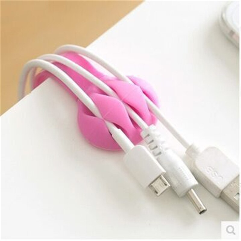 Multi-purpose Desktop Phone Cable Winder Headphone Clip Management Organizer Charger Cable