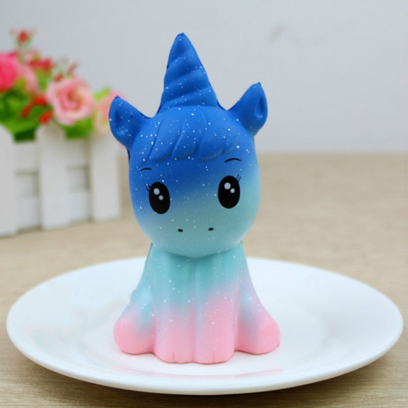 NEW 12CM Jumbo Unicorn Squishy Doll Slow Rising Flying Horse Phone Strap Decompression Toys Stress