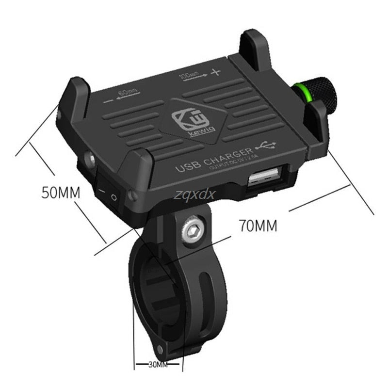 NEW Motorcycle Phone Holder With USB Charger Mobile Phone Holder for Electric Car Motorbike Mountain