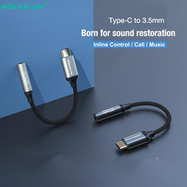 Type C to 3.5mm Headphone Jack Adapter USB C to Aux Audio Cable Cord DAC Chip