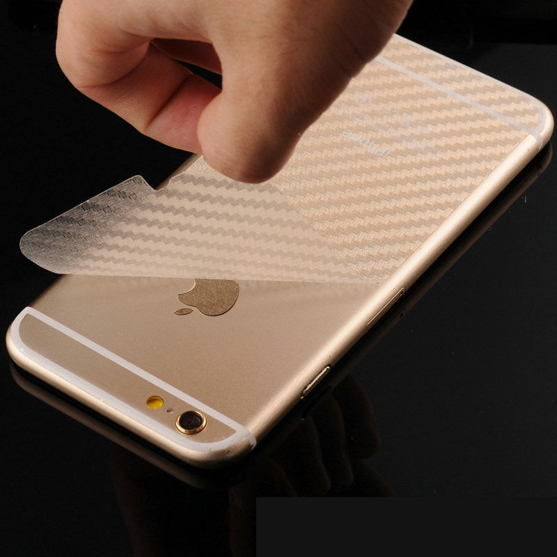 NYFundas 10PCS Back Carbon Fibre Film Mobile Phone Stickers for Apple iPhone XS Max XR 6 S 6S 7 8