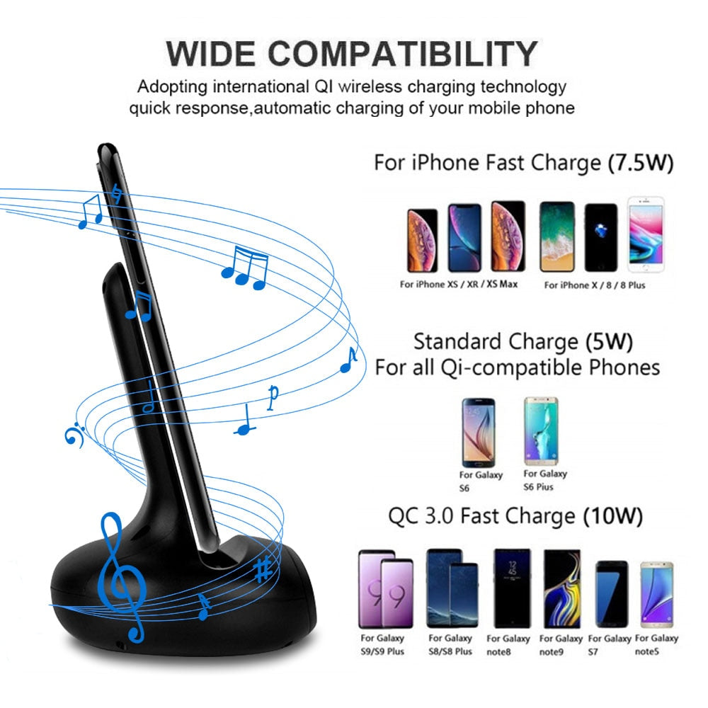 NYFundas 15W Wireless Holder Stand Station Charger For Samsung Galaxy S10 S9 S8 Plus S10E S7 S6 Edge