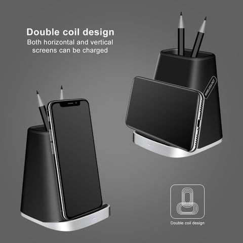 NYFundas 2 in 1 wireless charger Dock Station Bracket Cradle Stand Holder for iphone 8 8 plus XS MAX