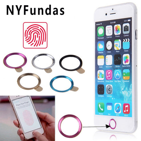 NYFundas Touch ID Home Button Sticker for Apple iPhone 7 6S 6 Plus SE 5S 8 5C iPad Pro Support