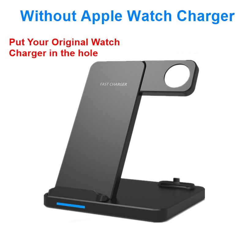 New 10w Qi Wireless Charger Stand For Iphone X 8 XR XS Max Xiaomi Fast Mobile Phone Charger Dock For
