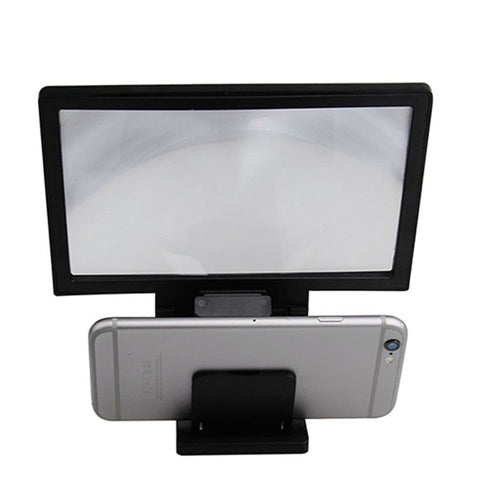 New Mobile Phone Universal 3D Screen Amplifier Magnifying Glass HD Stand for Video Bicycle Holder