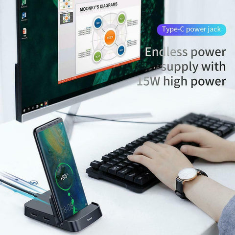USB Type C HUB Docking Station For Samsung S10 S9 Dex Pad Station USB-C to HDMI Dock