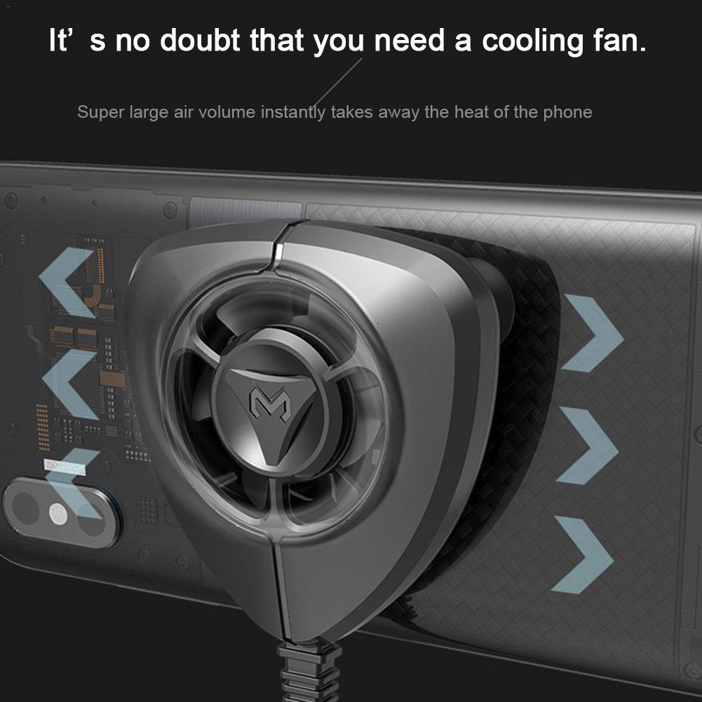 New powerful Portable cooling Fan Gamepad Game Handle Holder with Cooling Fan Support Charging for