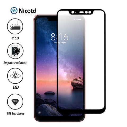 Nicotd Tempered Glass For Xiaomi Redmi Note 6 Pro 4X 4A 5A 5 Plus Screen Protector For Redmi 6A 6