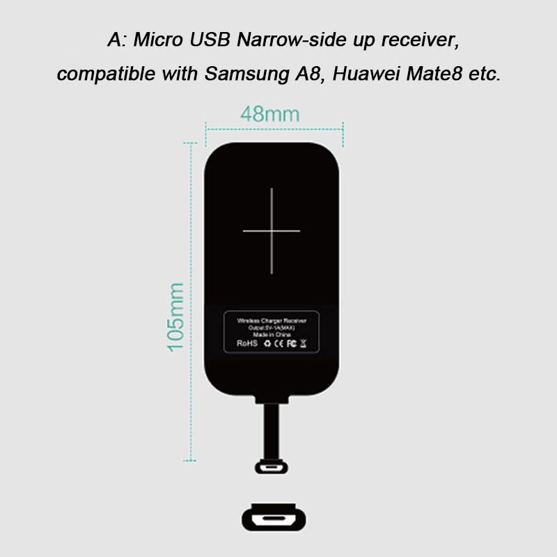 Nillkin Magic Tags QI Wireless Charging Receiver Micro USB / Type C Adapter For iPhone 5S SE 6 6S