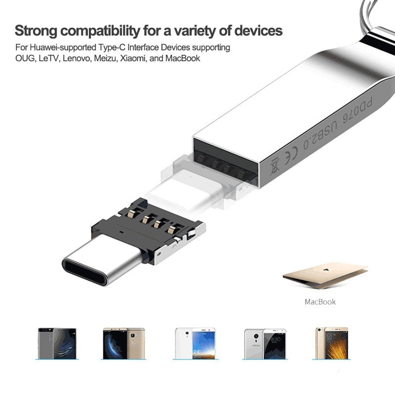 Olaf Mini OTG Type-C To USB 3.0 Mobile Phone U Disk Reader Tablets Adapter otg cable Converter For