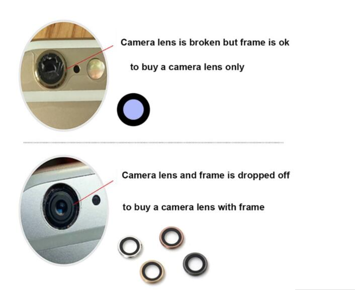 Original Glass Camera Lens with Tape Replacement for Apple iPhone X XS Max XR 8 7 6s 6 plus Sapphire
