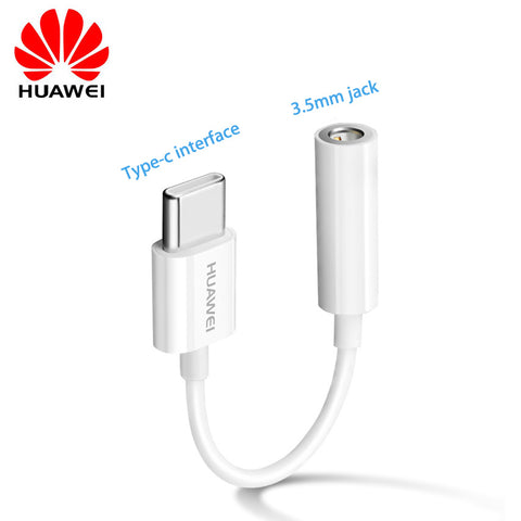 Original USB Type C To 3.5mm Earphone Jack Aux Audio Cable Adapter Headphone For Huawei P30 20 Pro