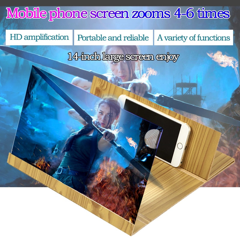 Orsda 3D Mobile Phone Screen Amplifier 14-Inch Mobile Phone Screen Folding Screen Mobile Phone