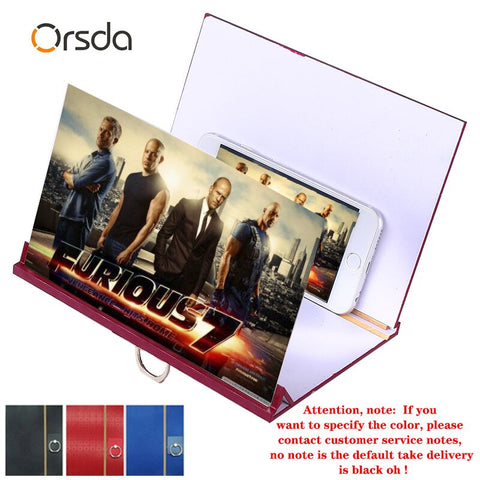 Orsda 3D Mobile Phone Screen Amplifier HD Movie 3D Mobile Phone Screen Magnifier Foldable Screen