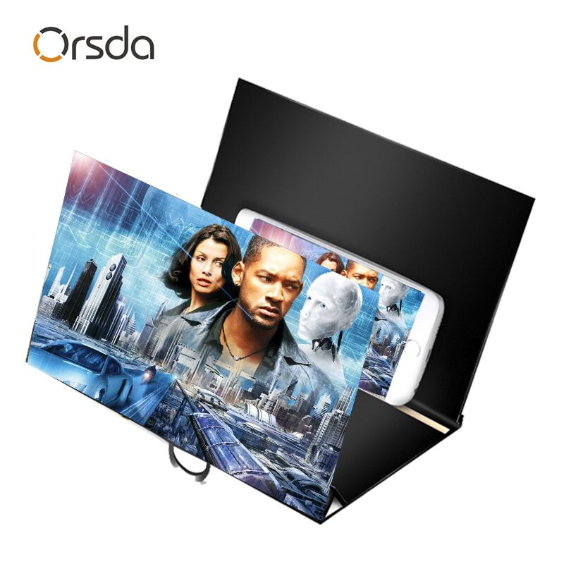 Orsda Gift 3d Phone Screen Amplifier Zoomify Wooden HD  Mobile Phone Screen Amplifier Foldable