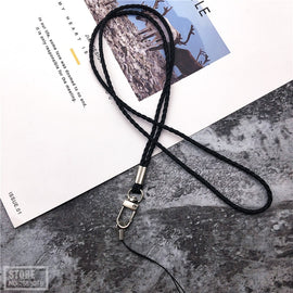 PU woven Leather Rope Phone Lanyard For Key Long neck Strap hang For Mobile Phone ID Card Key USB