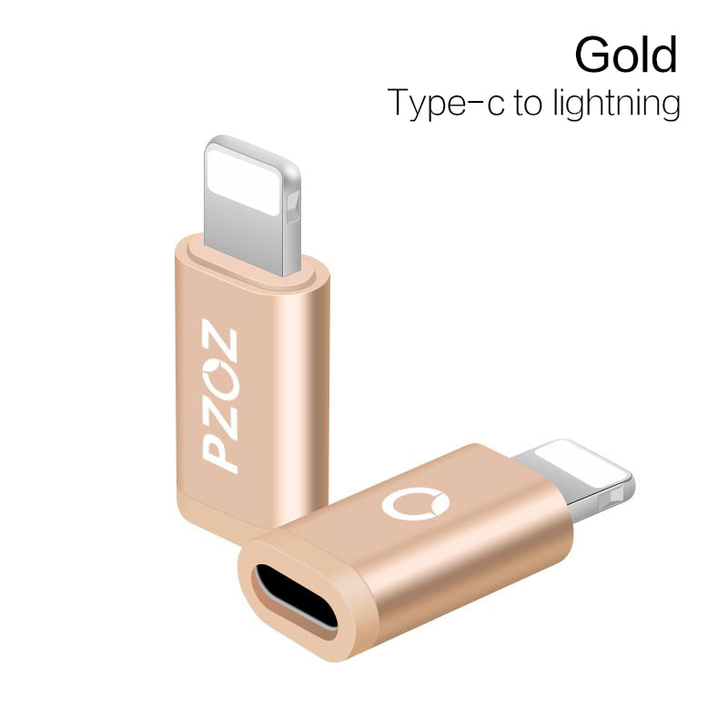PZOZ Type C Adapter to Micro USB for Samsung Cable Converter Charging Data for iPhone X 8 7 6 xiaomi