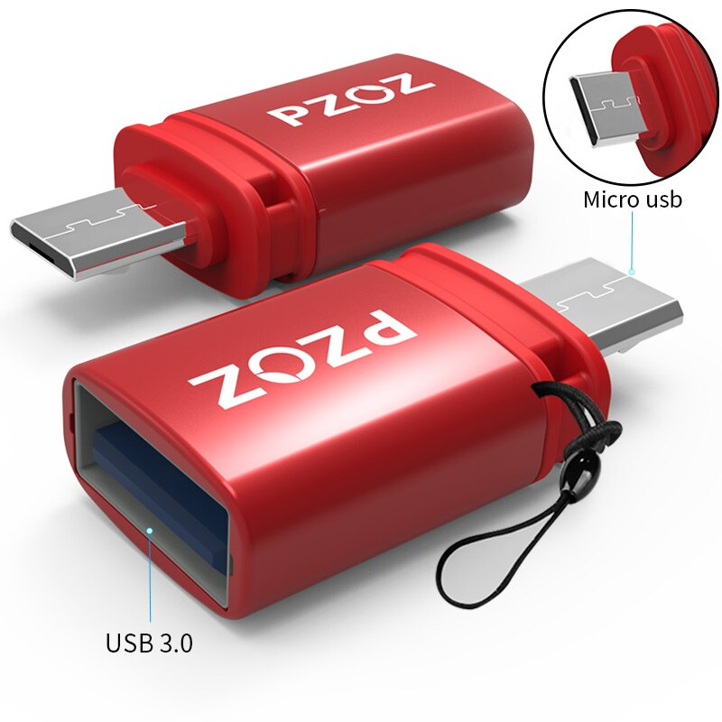 PZOZ otg adapter type-c 3.0 otg micro usb 3.0 Charge Data Converter type c microusb type usbc for