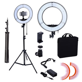 Photo Studio lighting 180PCS LED Ring Light 14inch  Camera Phone Lighting Photography Dimmable Ring Lamp With 200CM Photo Tripod