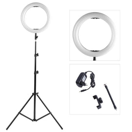 Photography LED Selfie Ring Light 14inch 336 Beads Dimmable Camera Phone Ring Lamp With 200CM Stand Tripod For Makeup Video Live