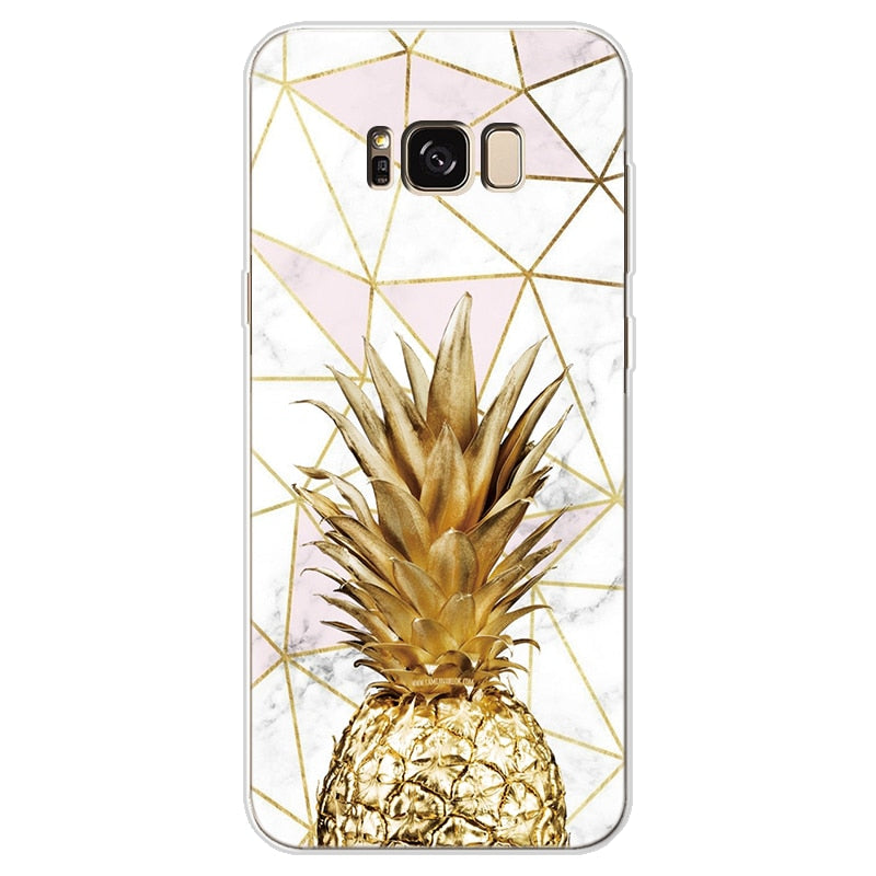 Pineapple Cover For Samsung Galaxy A30 A50 J7 Prime S7 Edge S8 S9 S10 Plus A3 A5 A6 A8 Note 8 9 2016