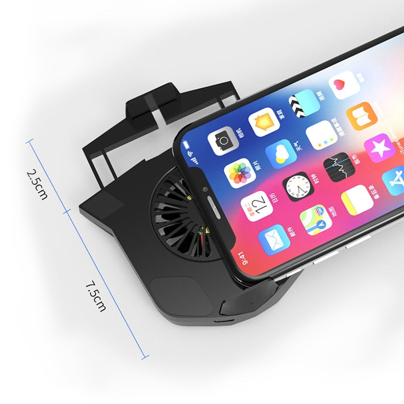 Portable Mobile Phone Gameing Cooling Pad Phone Holder Bracket Cooling Fan Radiator For 4-6.4inch