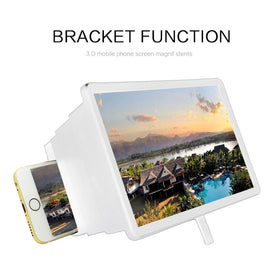 Portable Screen Magnifier Cellphone Projector Enlarged Amplifier Mobile Bracket Desktop Holder
