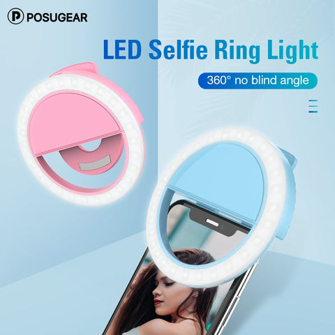 Posugear Selfie Light LED Ring Light Portable Mobile Phone Night Light Enhancing Photography
