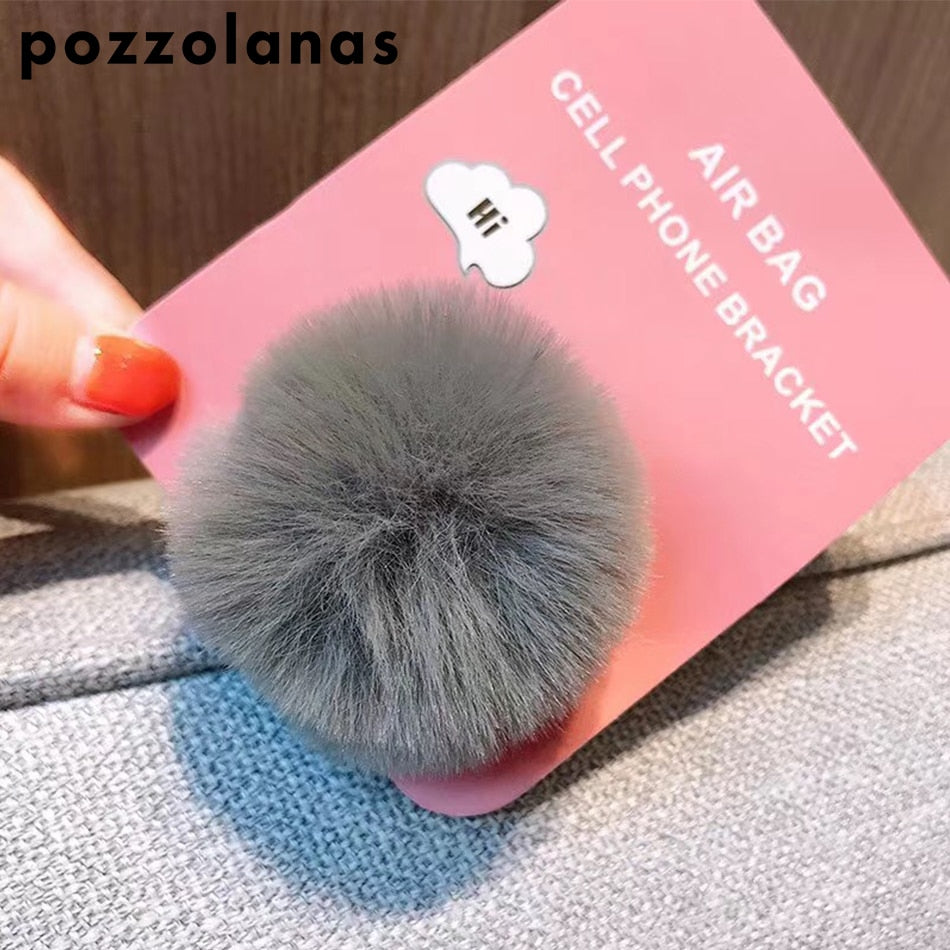 Pozzolanas Univeral Lazy Mobile Phone Holder Accessory cute Plush Colorful Adjustable Cellphone