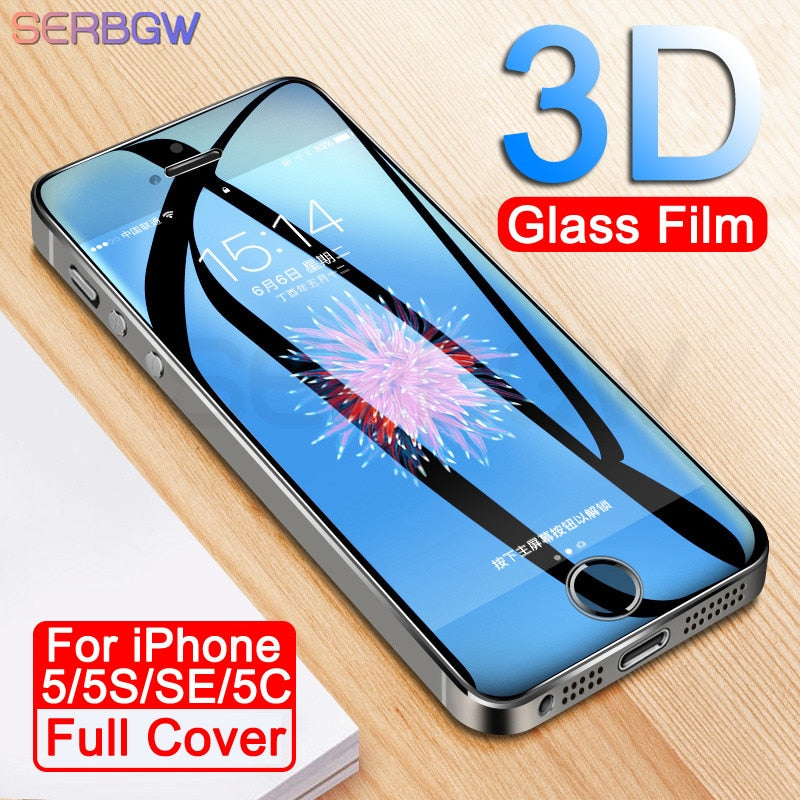Protective Glass On The For iPhone 5S SE 5C 5 9H Anti-Burst Tempered Screen Protector Glass For