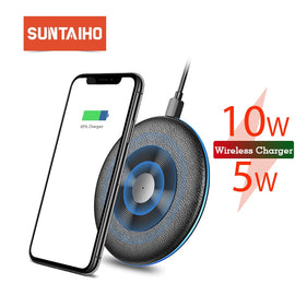 Qi Wireless Charger 5W/10W Suntaiho phone charger wireless Fast Charging Dock Cradle Charger for