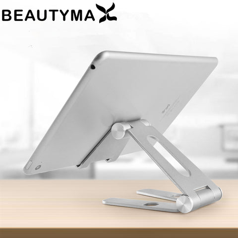 Rotatable Aluminum Alloy Tablet Holder for ipad air 1/2 mini 1/2/3/4 pro 9.7 10.5 12.9 Foldable Cell Phone Holder