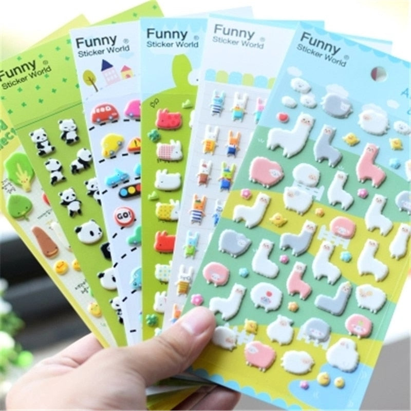 SIANCS 1pc Cartoon Alpacas tickers on the phone Cute Animal phones accessories for Cup Album Diary