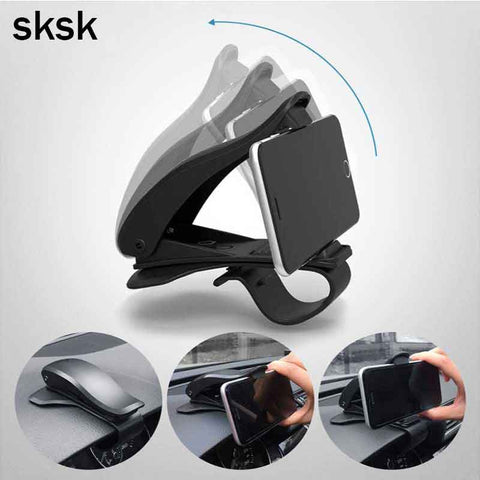 SKSK Updated NonSlip 360 Rotation Dashboard Car Mount Holder for iPhone 7 8 8 Plus X Samsung GPS HUD