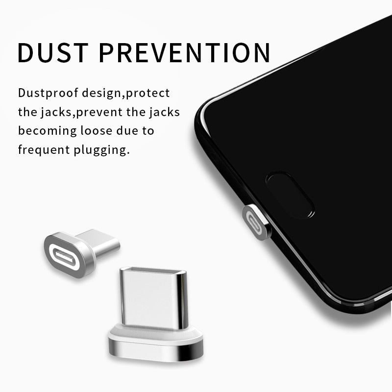 SUNPHG Magnetic Adapter USB Type C to Micro USB Type-C Converter for iPhone Xiaomi Huawei Samsung