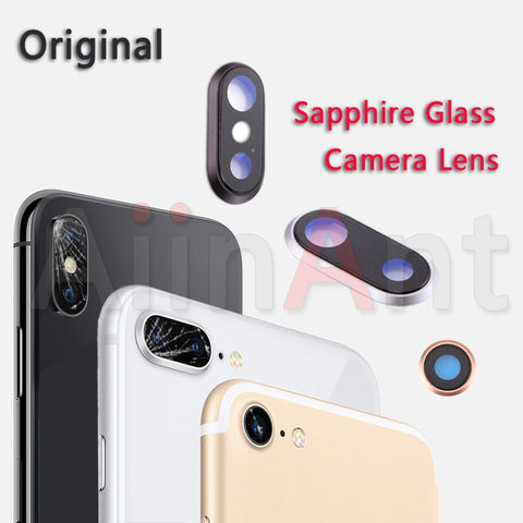 Sapphire Crystal Back Rear Camera Glass Ring For iPhone 7 8 Plus Original Camera Lens Ring Cover