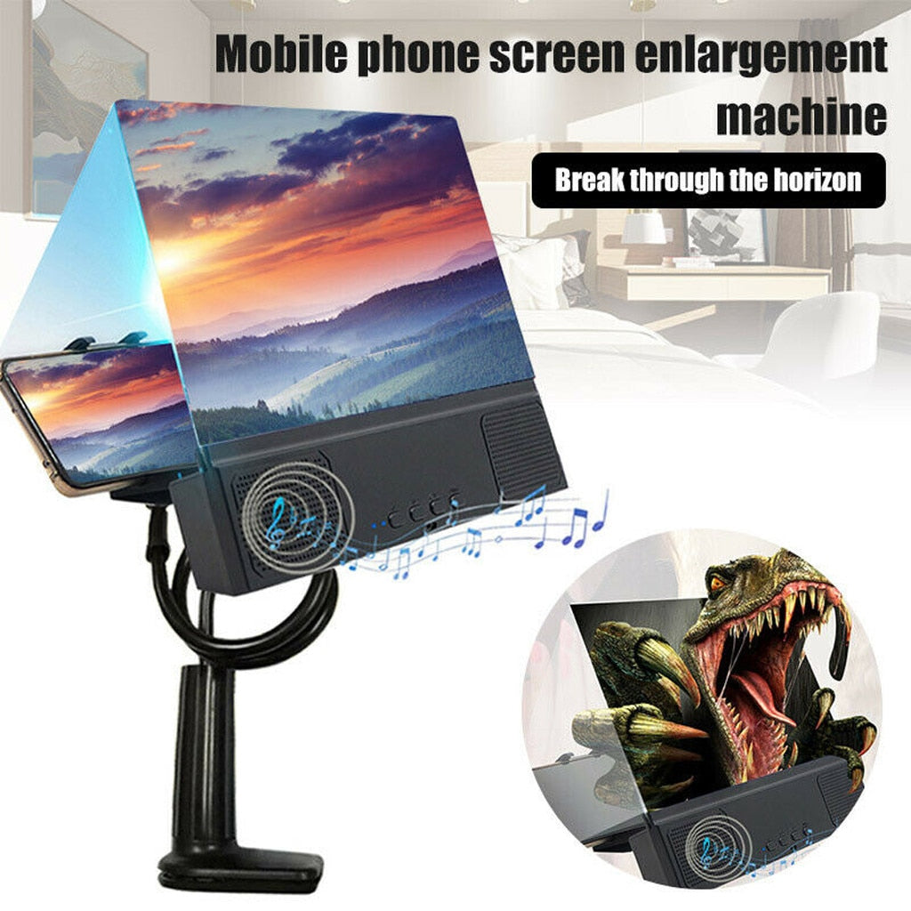 Screen Magnifier Cellphone Projector Enlarged Amplifier Mobile Bracket Desktop Holder