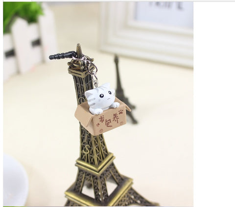 Seeking nurturing cat style 3.5mm Cute Cartoon Cat Design Mobile Phone Ear Cap Dust Plug For