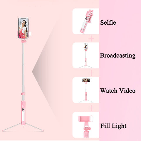 Selfie Dimmable Fill Light led Wireless Bluetooth Selfie Stick Table Fill Light with Tripod for