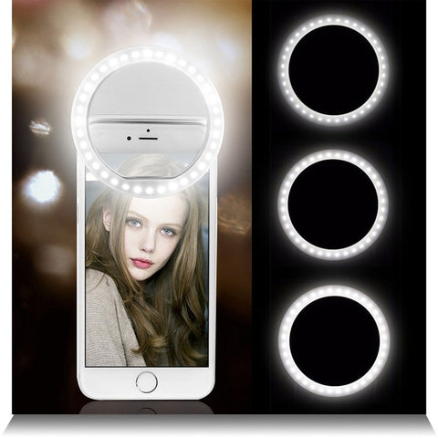 Selfie LED Ring Flash Lumiere Telephone Portable LED Mobile Phone Light Clip Lamp