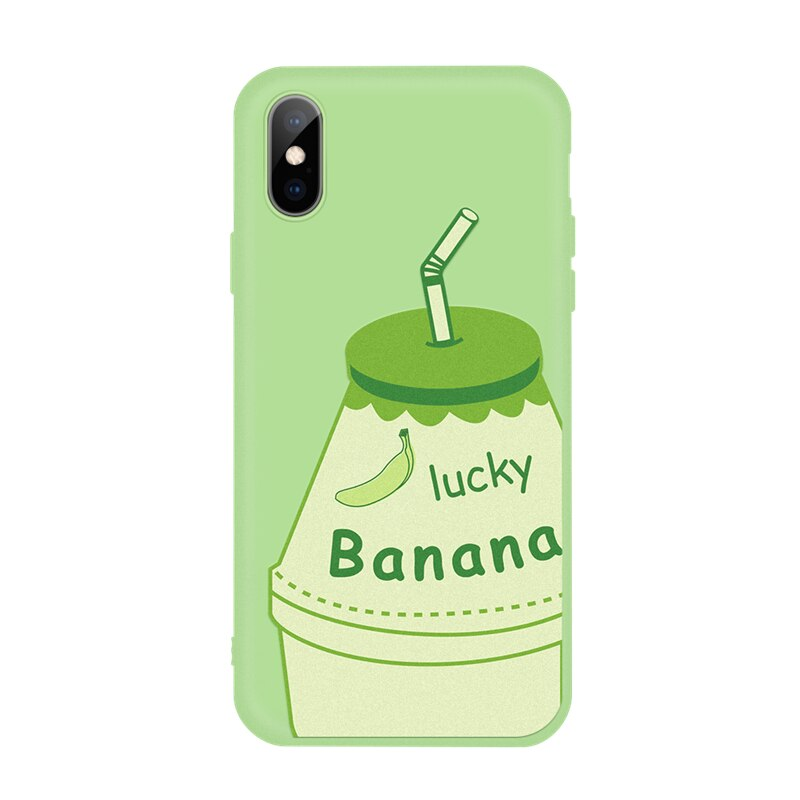 Silicone Cover Couple Case For iPhone X XR XS 6 6S 7 8 Plus 5 5S SE Lover Plant Pattern Phone