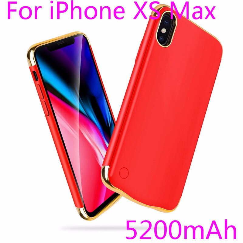 Slim Plating shockproof Battery Charger Case For iPhone XR XS Max Rechargeable Power Bank For iPhone