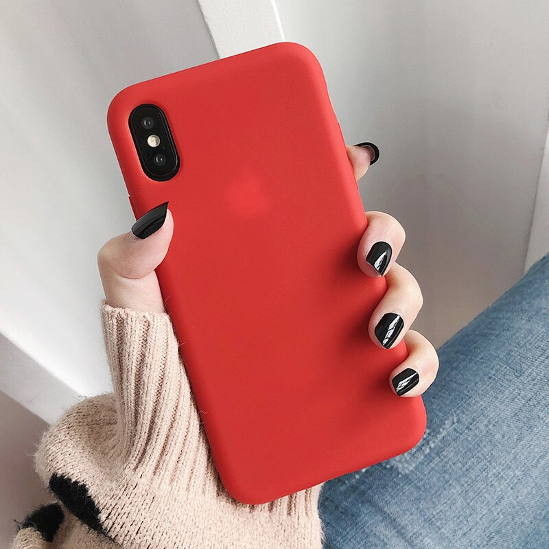 SoCouple Candy Color Soft Silicone Phone Case For iphone X XS Max XR Case For iphone 7 8 6 6s Plus