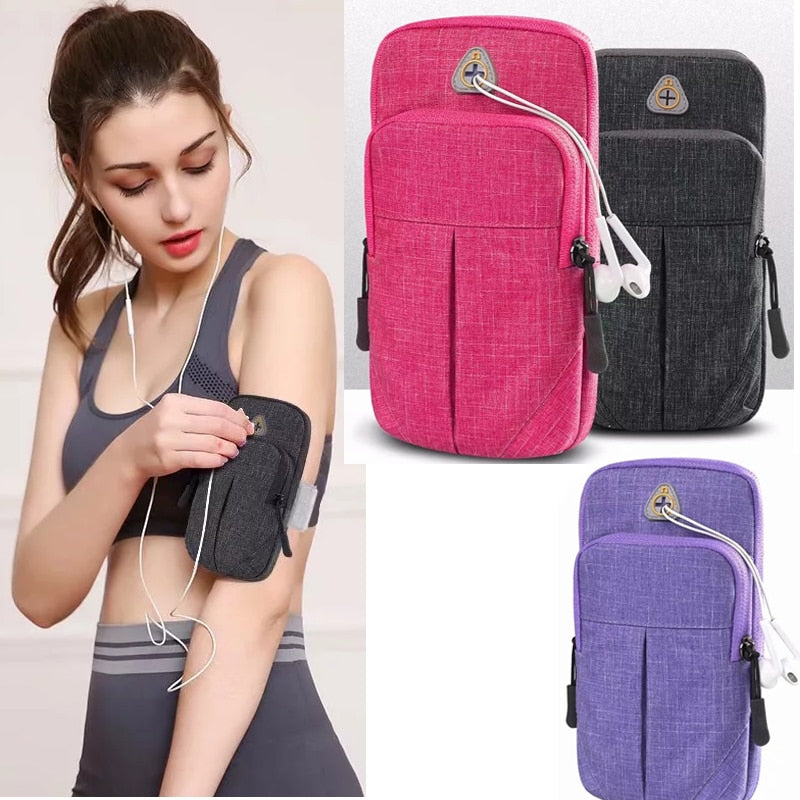 Soft Breathable Universal Cell Phone  Holder For Running Sports Armband Case For iPhone 6 7 8 xs