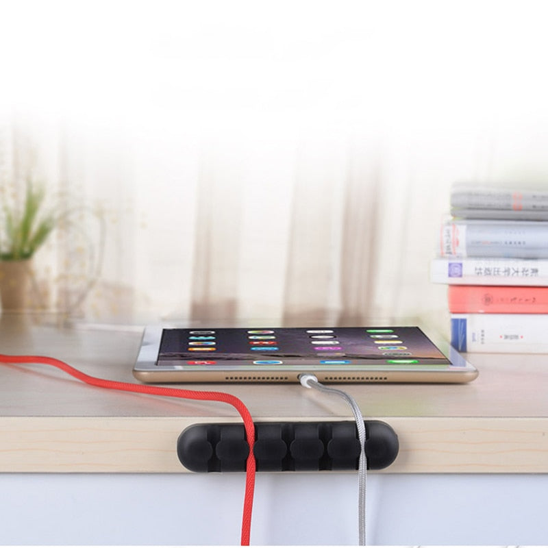 Suntaiho Phone Cable Organizer USB Cable holder Winder management Clip Earphone Holder Mouse wire