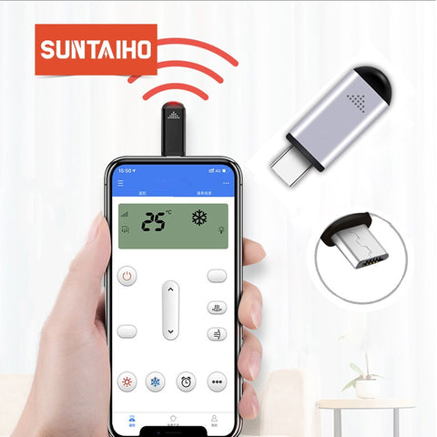 Suntaiho infrared usb c remote for iphone Samsung Xiaomi Mini Smart IR Controller phone Adapter
