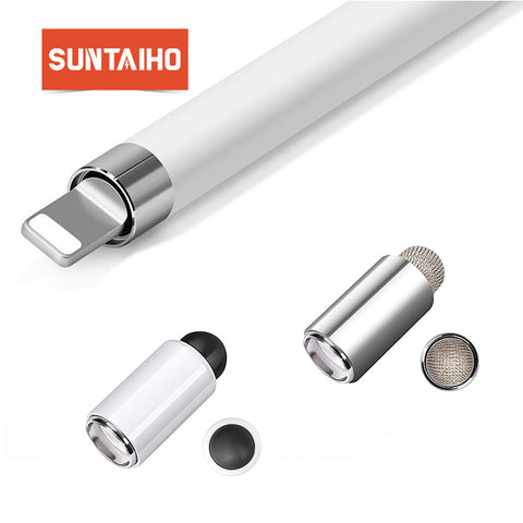 Suntaiho stylus pencil Cap for Apple Pencil Cap Cover Case Replacement Touch Pen Tip Metal Touch
