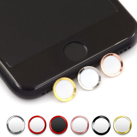 Support Fingerprint Unlock Touch Key ID Home Button Sticker Protector Keypad Keycap For IPhone 5s