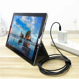 Surface Connect to USB Type C Charging Cable For Surface Pro 3 4 5 6 Go Book 15V PD Charging